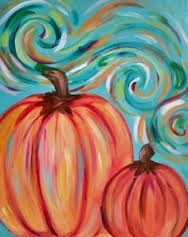 pumpkin swirls painting